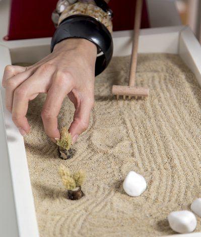 realiser un jardin zen miniature pour