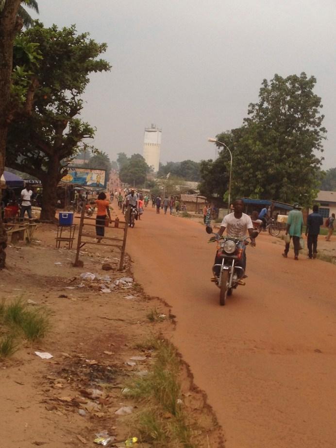 Les rues de Mbandaka