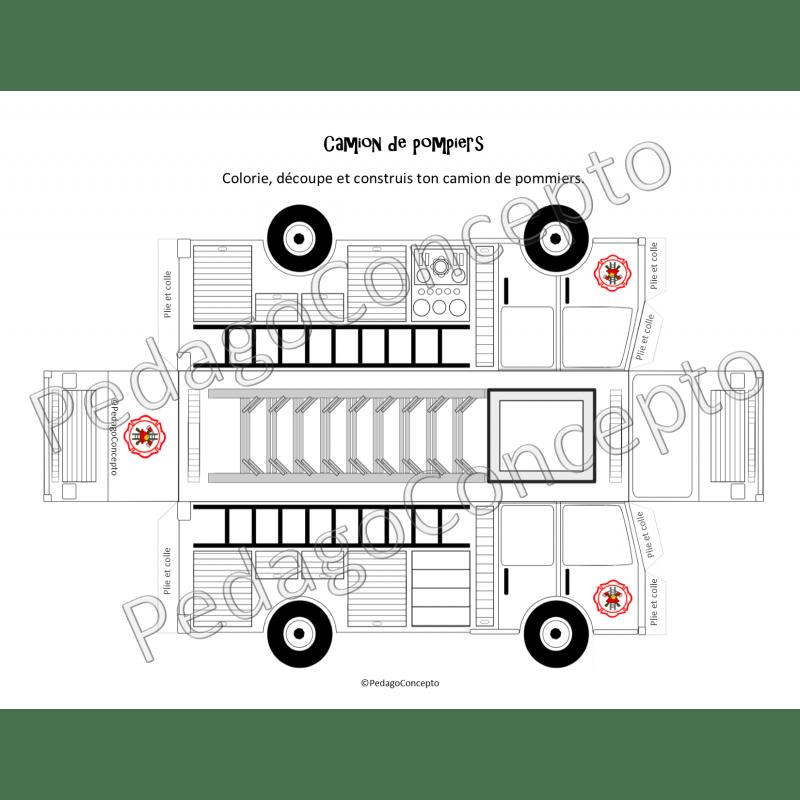 Camion de pompiers et marionnette