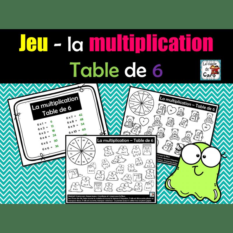 jeu la multiplication table de 6