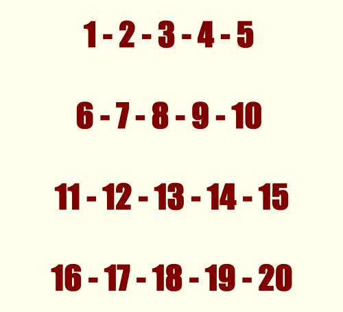 numéros du quinté