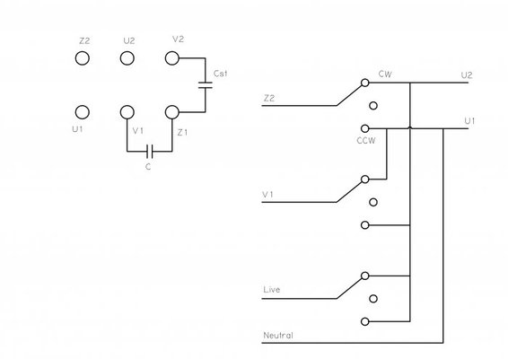 Twin capacitor single phase motor, running but is it ok