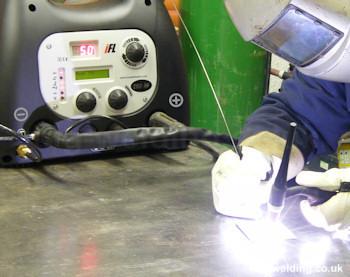 TIG welding and polarity