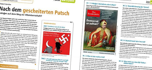 Arbeitsblätter für den Politikunterricht des Schulbuchverlages