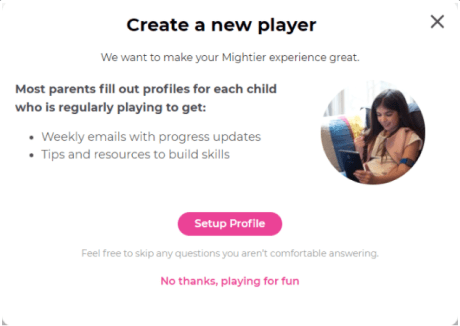 Create a new player