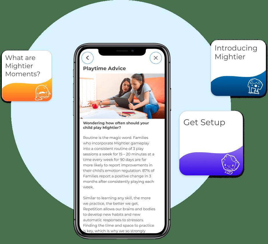 Parent app tips insights