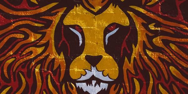 brave lion painting