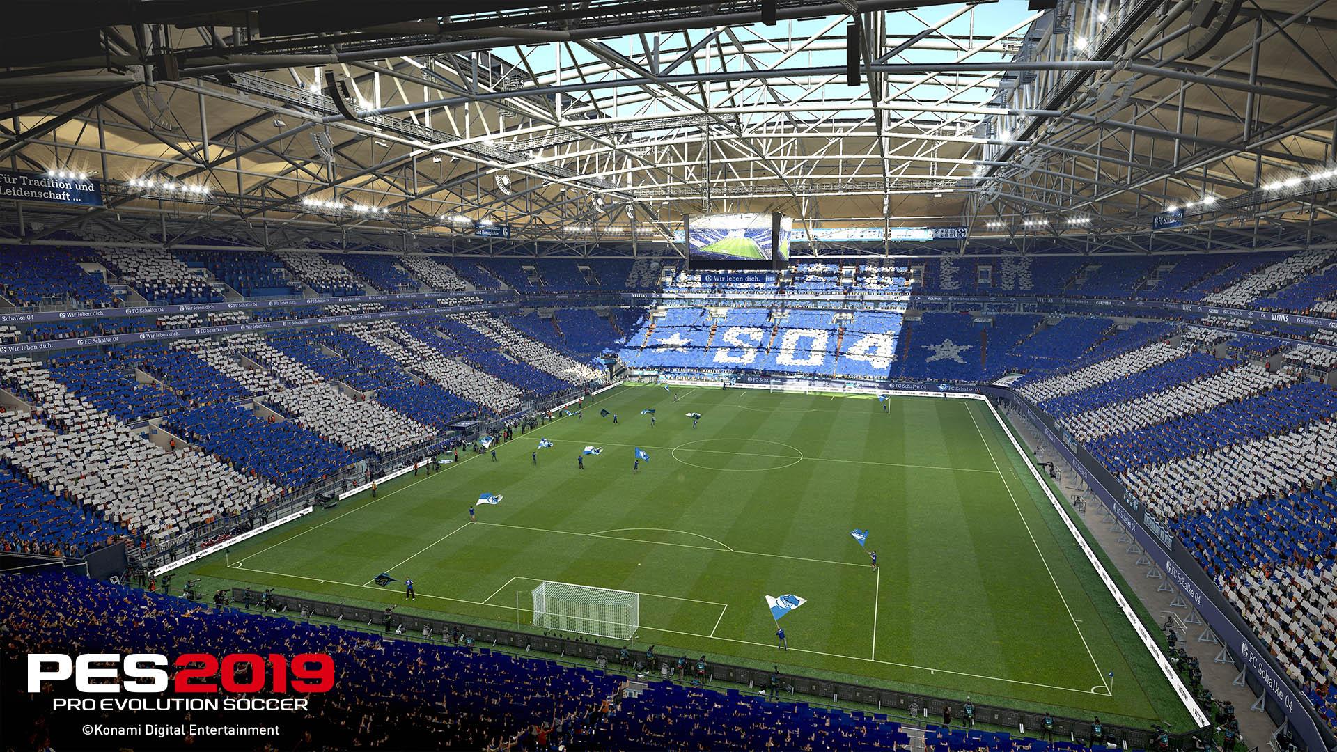 Neue Screenshots zu PES 2019 zeigen FC Schalke 04 und