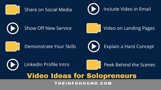 8 easy video ideas for busy solopreneurs