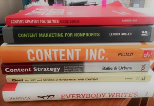 Jennifer's Mighty Marketing recommended favorite books pile