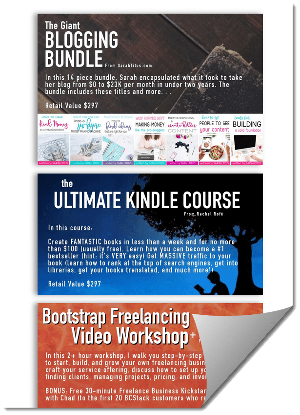 BC Blogging Concentrated Stack ebook trainings courses bundle 2018