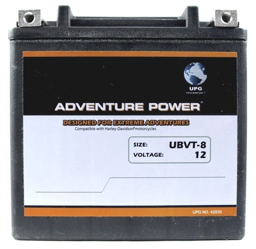 UBVT-8 12V 12Ah 200CCA Motorcycle Battery Replaces YTX14-BS