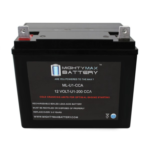 ML-U1 12V 200CCA Battery for Jacobsen Chief Lawn Tractor and Mower