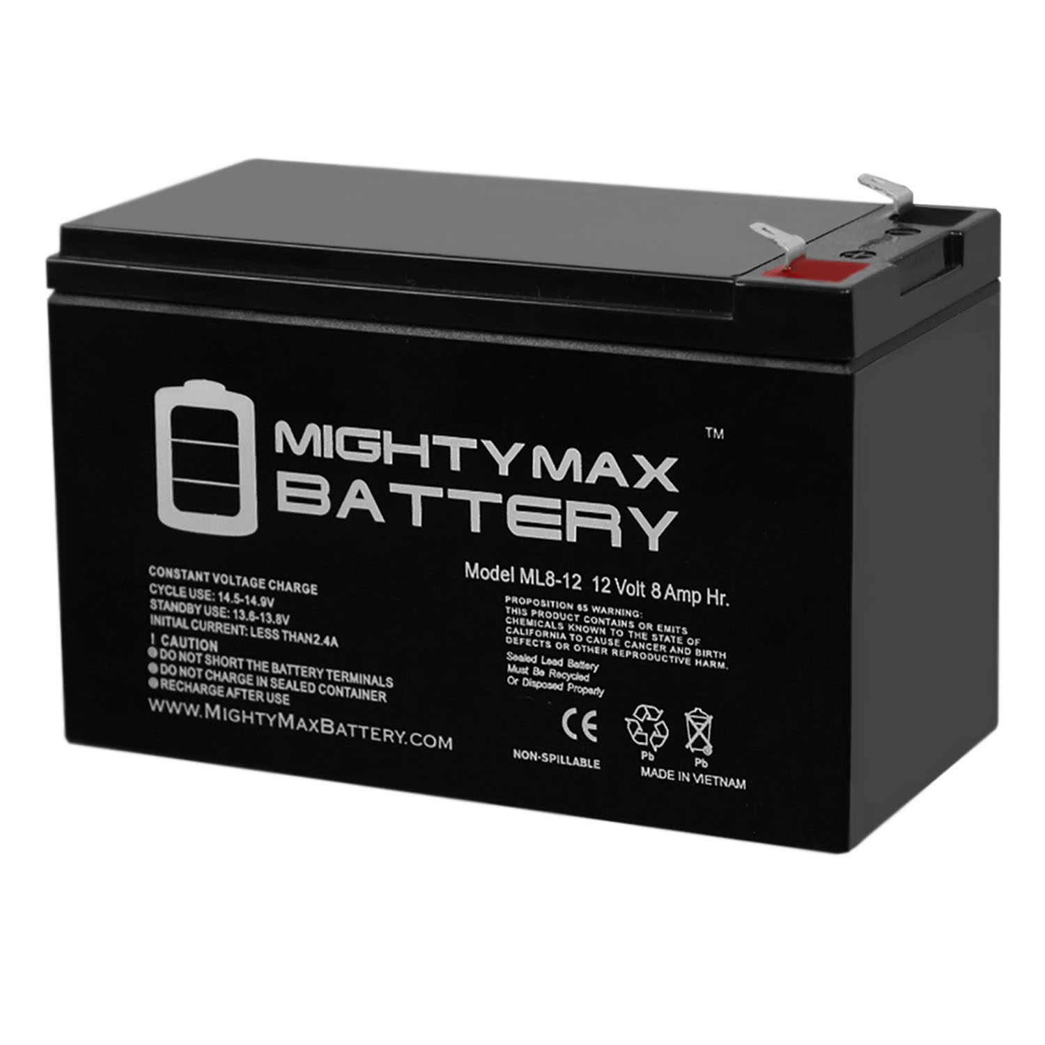 Mighty Max Battery 12V 9Ah Battery Replaces Clary Corporation UPS1800VA1GSBSR 6 Pack Brand Product