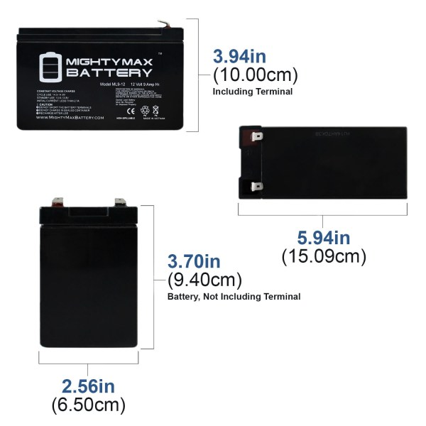 12V 9AH SLA Battery Replaces X-Treme X-500 Electric Scooter
