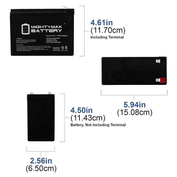12V 10AH SLA Battery Replacement for Emerson AP160, AU750, UPS200