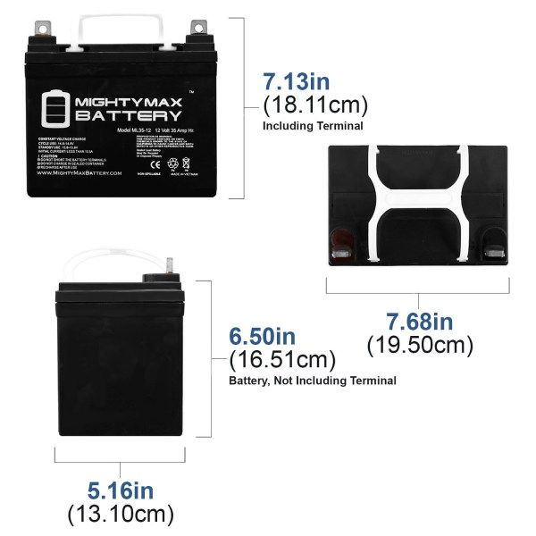 ML35-12 – 12V 35AH SLA Battery for ELECTRIC MOBILITY TURNABOUT STOWAWAY