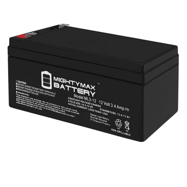 12V 3AH SLA Replacement Battery for B&B BP3-12