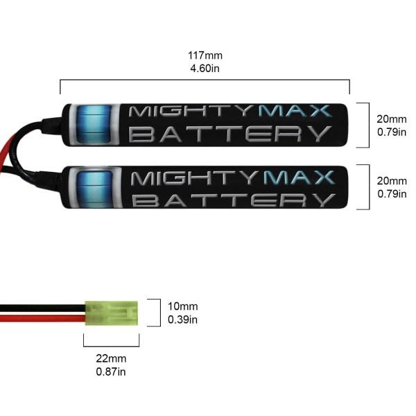 9.6V 1600mAh Butterfly Battery Pack