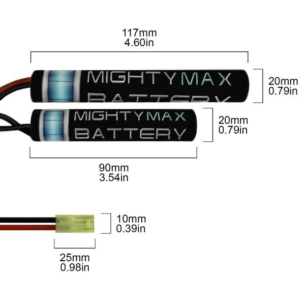 8.4V 1600mAh NiMH Mini Butterfly Battery for CA90 P90
