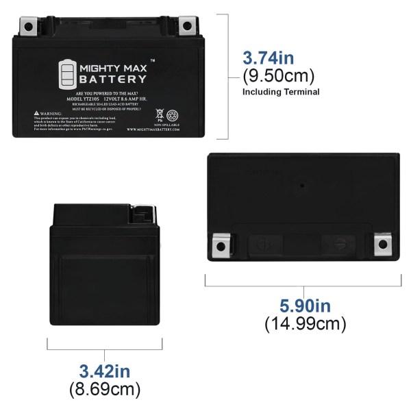 YTZ10S 12V 8.6AH Battery Replaces Yamaha YZF R6 600 YZFR6BL 2012