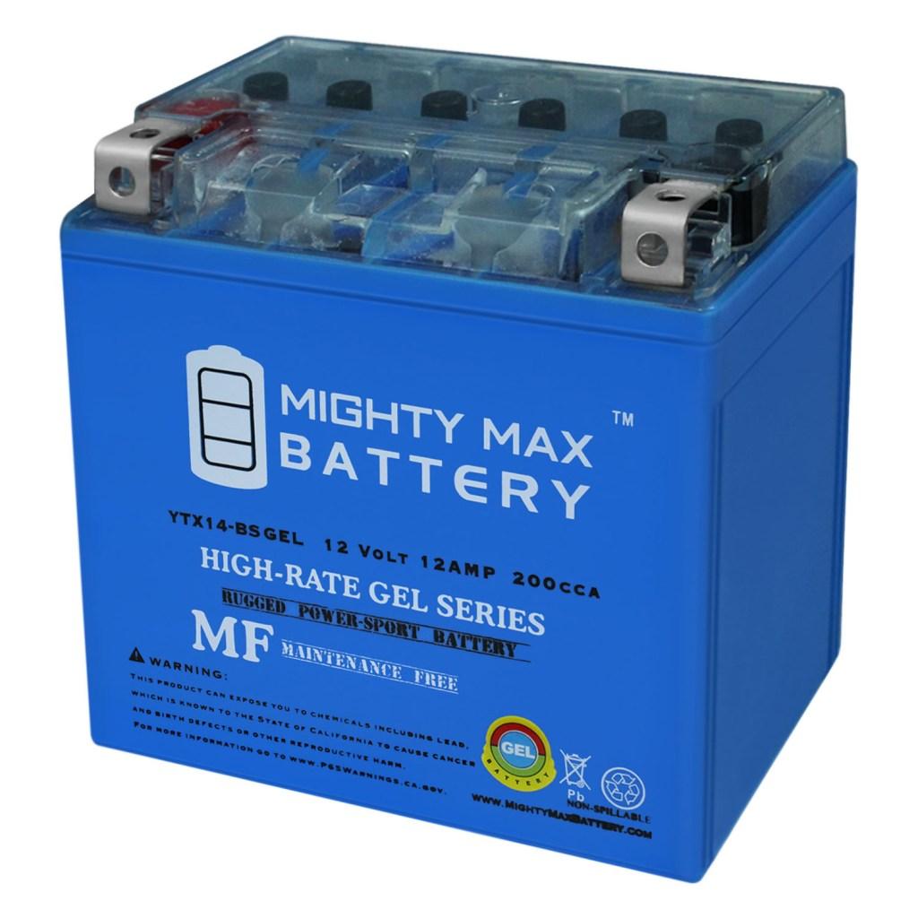 YTX14-BS GEL – 12V 12AH  200 CCA – Battery