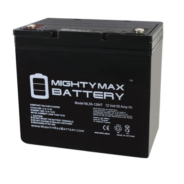 (Group 22NF) 12V 55AH SLA Battery INTERNAL THREAD TERMINAL