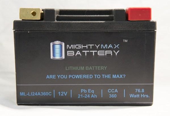ML-LI20R LiFePO4 12V 20-24ah 330,370 CCA PowerSport Battery