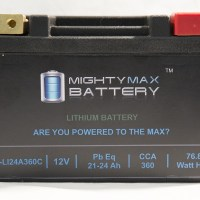 ML-LI20R LiFePO4 12V 20-24ah 330,370 CCA PowerSport Battery
