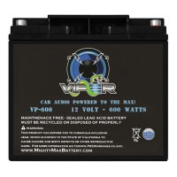 Viper VP-600 600 Watt Power Cell Audio Battery + Terminal Hardware