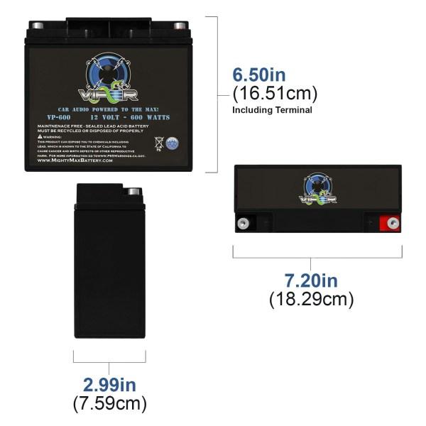 Viper VP-600 600 Watt Car Audio Battery for Autotek ATA1200.2