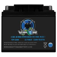 Viper VP-1200 12V 1200 Watt Battery for Kicker KX1200.1, DXA125.2