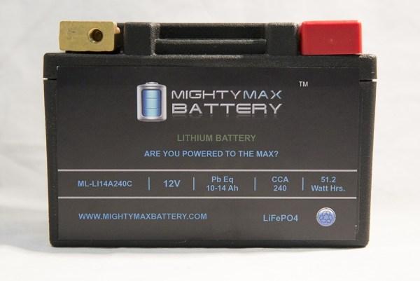 LiFePO4 ML-LI14R 12V 10-14ah 180,240 CCA PowerSport Battery
