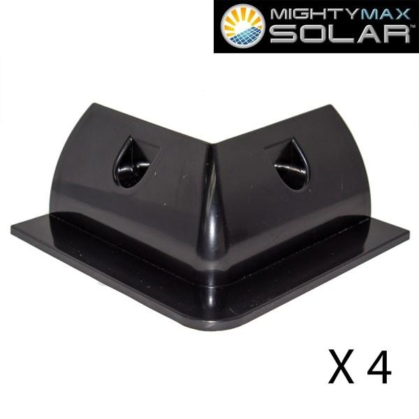 Universal ABS NO DRILL RV Solar Panel Mount