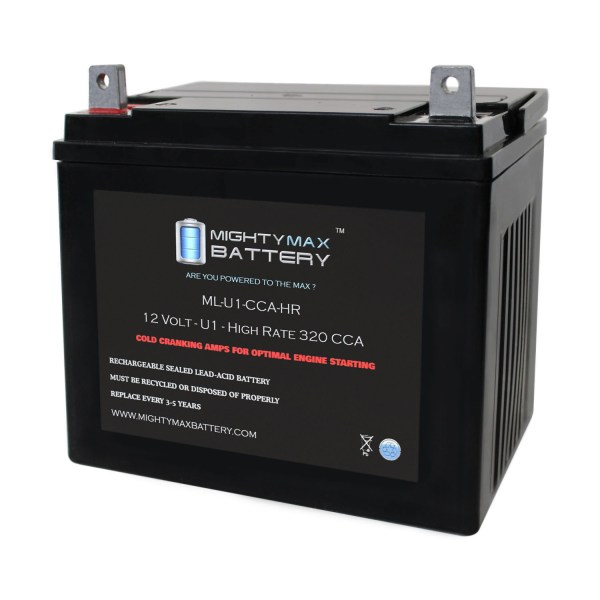 ML-U1-CCAHR 12V 320CCA Battery for Sears 25760 Lawn Tractor Mower