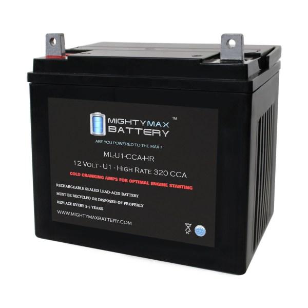 ML-U1-CCAHR 12V 320CCA Battery for JohnDeere 777 Max Z Trak Mower