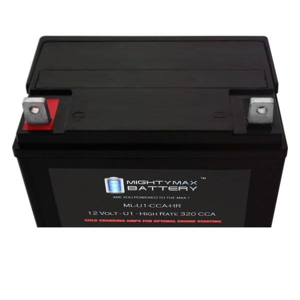 ML-U1-CCAHR 12V 320CCA Battery for JohnDeere 130 9 HP 300CCA Mower