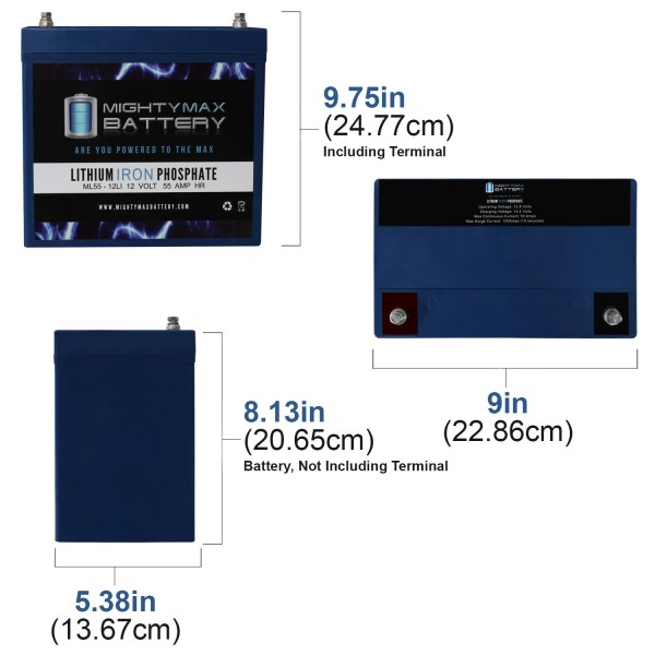 12V 55AH Lithium Battery Replaces Aviator XModel S8X Mobility Scooter