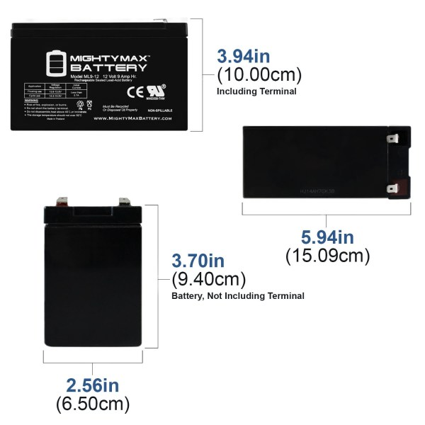 12V 9Ah SLA Battery Replacement for Patriot SolarGuard 155