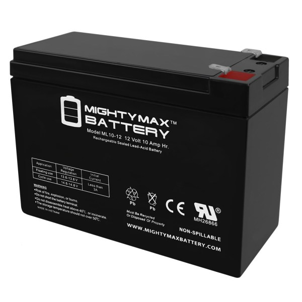 ML10-12 – 12V 10AH Replacement for SHOPRIDER ECHO 3 SL73 BATTERY
