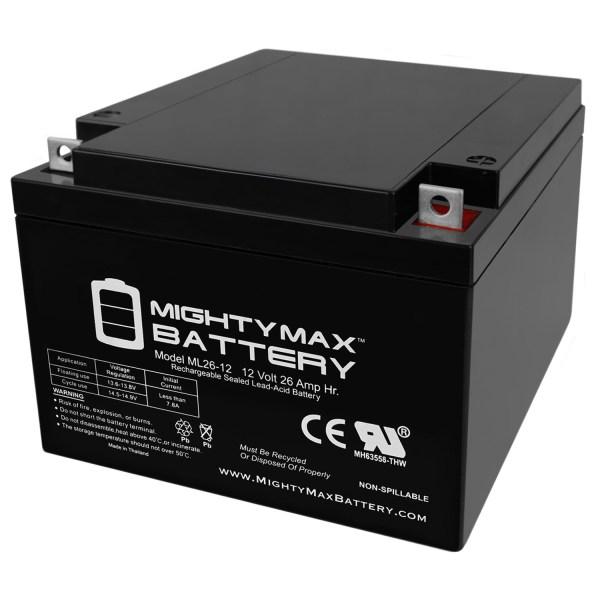 ML26-12 12V 26AH T3 Terminal – Sealed Lead Acid Battery