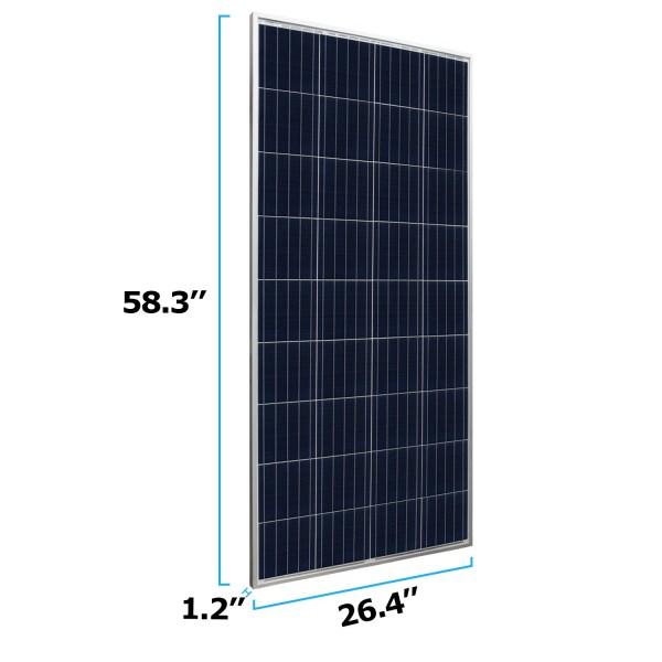 160 Watt 12 volt polycrystalline off grid solar panel