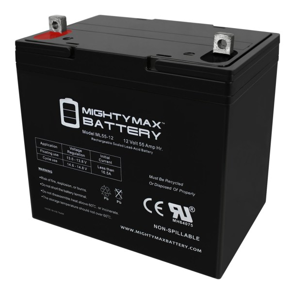 12V 55Ah Jazzy Select 14 XL Jet 1 HD 2 10 12 Power Chair Battery