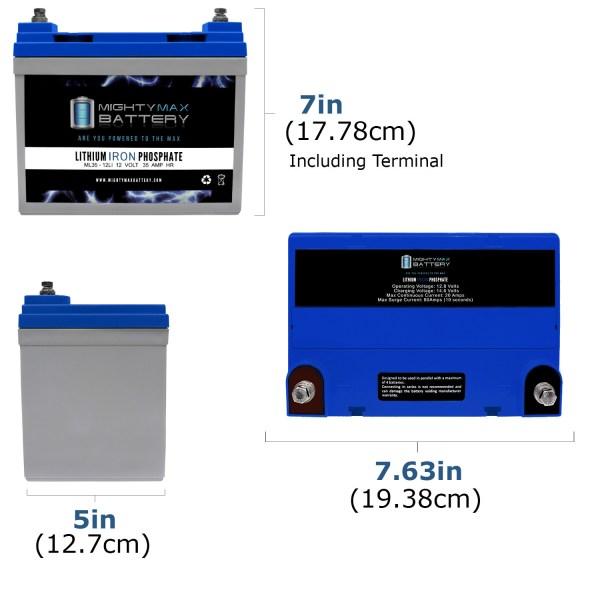 ML35-12LI -12V 35AH Deep Cycle Lithium Battery