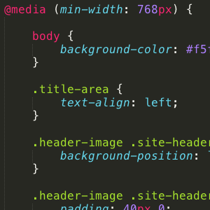 min-width media queries in action