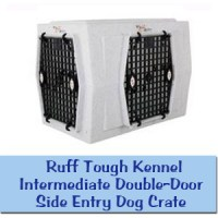 Ruff Tough Kennel Intermediate Double-Door Side Entry Dog Crate