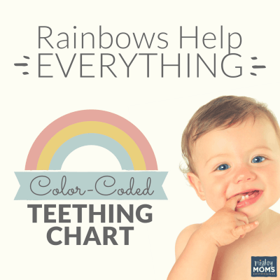 Rainbows Help Everything: Color Coded Teething Chart