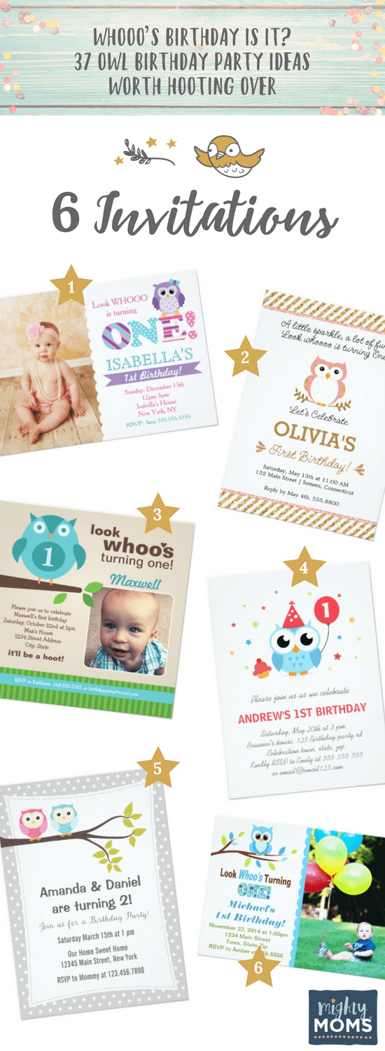 6 Invitation Ideas For An Owl Birthday Party