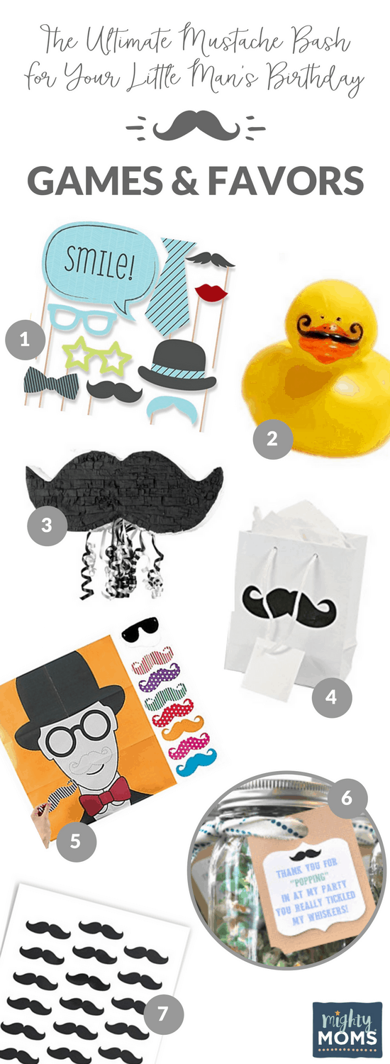 The Ultimate Mustache Bash For Your Little Man\'s First Birthday