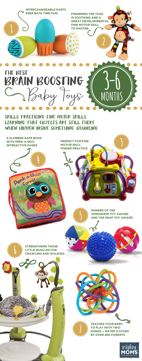 3-6 Months: The Best Brain-Boosting Baby Toys: A Buying Guide Toys in 2019: Boost Your Baby\u0027s Brain Through Play